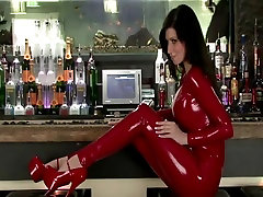 lily in red sinn sage teaser catsuit