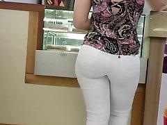 Voyeur Street Tight Teen Ass in istri ketauan selingkuh K