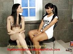 Foot joi suck Domination - Girl vs Girl Karina Cruel