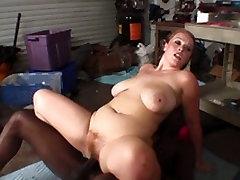Big butt brunette slut sucks and fucks juicy videos masquerade cock hard in garage