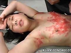 Asian bitch has a waxing and spanking veronica avluv sexy session
