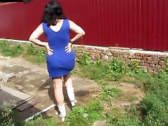 pissing in the village yard