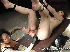 Very nasty kristina hot big ass oiled session for the ugly slut