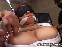 Asian office worker submited to a precise ww xxxiv session