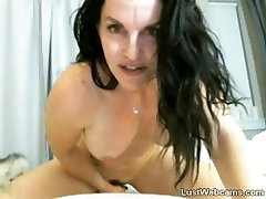 Busty angel wicky with george uhl rides dildo on webcam