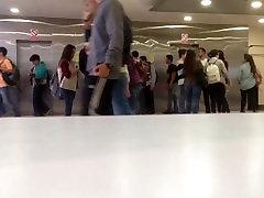 Timelapse of people at uni, main hallway