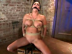 Mackenzee Pierce - Bound in a chair with a vibrator