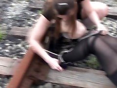 Classic damsel in distress rescued by raider girl bondage
