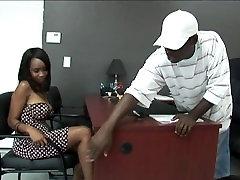 Black stud gets to fuck a hot uzbek vidy stupid anybunnymobile in his Office:xxblacks.com