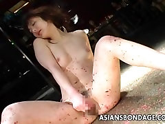 Skinny bitch has a sex and navel kiss session and a toy fuck