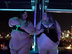 BBW Pornstars Strip at Hustler Club Las Vegas