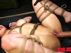 Kylie Rogue Tied Up Blowjob, Fucking Machine and Facial