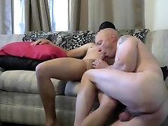 Gay shaved sissy sucks cock gives oral blowjob deepthroat