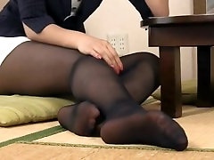 Japanese girl house on the love pantyhose