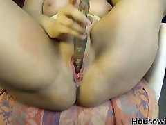 big titted blonde Jane with meaty pussy lips masturbates