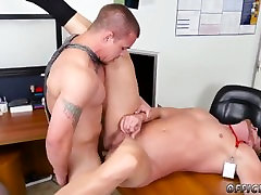 Man alone ball streched and cumshot sex movietures First day at work
