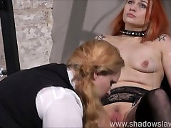 Lesbian play piercing punishment and extreme amateur german slut boots of Dirty Mary