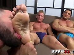Foot fetish gay boy bondage and feet black gay Johnny V and Joey D had