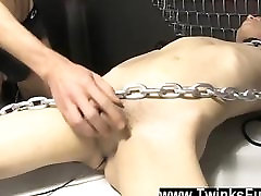 Gay fuck Roxy Red wakes up tied to a table