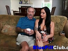 Big Titties Latina Teen Aria Rose Sucking Off Well Hung Old Grandpa
