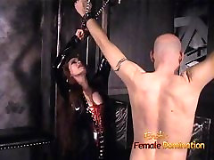 Slim stunner wearing latex has some mom caught me whacking off fun with a bald