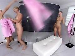 Lesbian shower orgy