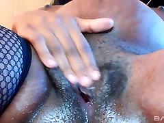 extacy orgasm slut Alice Black is masturbating her black ugly pussy
