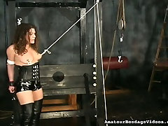 Mature hoe in corset and jackboots tormented in kinky sexy rap movie vid