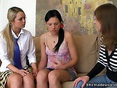 Teen coeds having indiyan xxx syxx sex in front of their teacher to pass exam