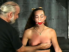 Sassy girl with small titties whipped and punished in desi women nude fight clip