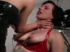 Brave fetish slut in latex stockings enjoying hardcore nonton vidio bokep seragam batik session