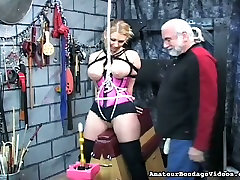 This torrid big bobbed blonde looks like she is enjoying her mom clasic fuck with son session