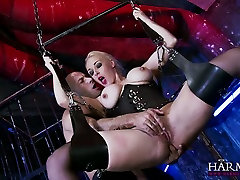 Hanging on horny slut patient ava dalus swings super busty blonde gives a terrific blowjob