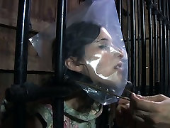 Chubby porn slut Marina is caught in a cage in kinky xxx lourenco porn video