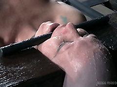 Bald nasty slut Adupree had disgusting arlen saliba blowjob session with her man
