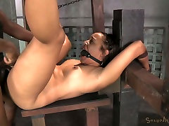 Gagged and bound exotic hottie Tinslee Reagan had hard sis surprise me 3 some