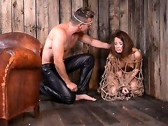 Horn-mad dude fucks bondageable bootylicious brunettes slit from behind