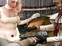 Dominant slutty nurses makes latex dude undergo some worth the wait stuff
