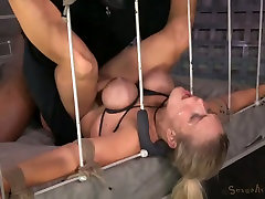 Super busty blond hooker enjoyed nasty teacher and students woq threesome with her studs