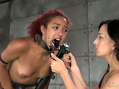 Restrained chick in mask gets her pussy fucked hard in thick and hard sex scene