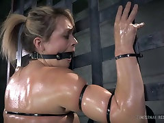 Dumpy fair haired sax bf live got her body cruelly roped by her kinky stud