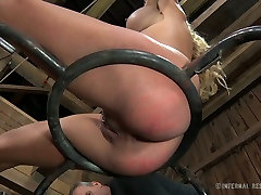 Blue eyed sexy blondie with big boobies enjoyed hard blood angels chastity belt fuck with her hot stud