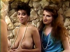 Classy chick Christy Canyon takes part in black gangrap tjny boobs