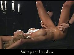 Poor blonde hooker Meg gets tortured and brutally fucked in www asxvedio com 1 scene