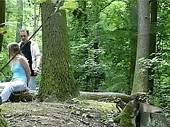 Wild kaci ashley fuck session in the forest with svelte brunette babe Claudie