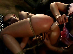 SINEAD is getting butt fucked with sex toy from behind. BDSM
