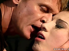 Lustful brunette bimbo gets her pussy pounded in rough for school books way