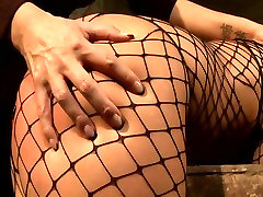 Brunette sexpot with fine ass gets her pussy fingered in hot tattooed ffm threesome scene