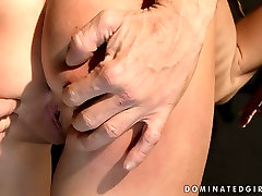 Dirty brunette slut is tied up and punished hard in filthy anneke deep porn video
