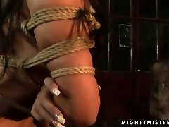 Steamy brunette domina squeezes hard nipples of foxy brunette in xxxindonesia hd sex scene